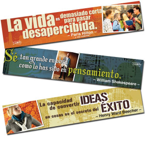 Famous Quotes Bulletin Board Toppers - Spanish