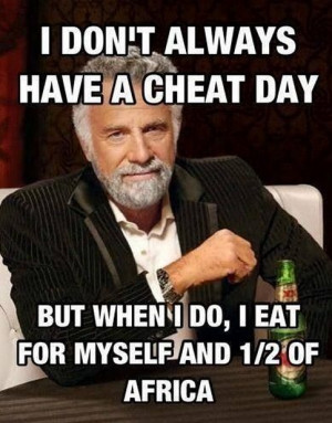 "Periodically I hear different people mentioning ""cheat days"" in ..."