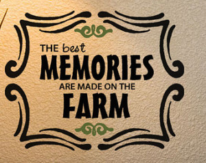... VInyl Wall Decal Words, Cute Farming Family quotes, Chic farmhouse