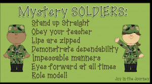 ... soldiers motivating students in the hallway quotes military love