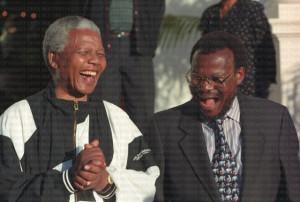 Nelson Mandela and Mangosuthu Buthelezi