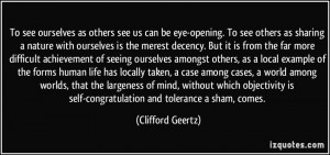 as others see us can be eye-opening. To see others as sharing ...