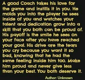 For the coaches that have pushed Zak and Hay-Thanks