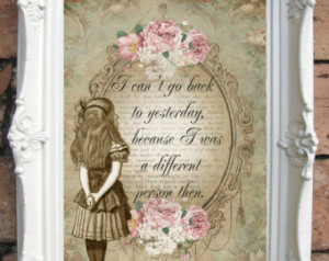 ALICE in WONDERLAND. Wall Art. Decor Print. Shabby Chic. Alice in ...