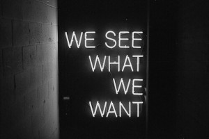 black and white, grunge, hipster, indie, neon, pale, quote, tumblr