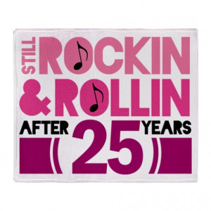 ... > 25 Years Living Room > 25th Anniversary Funny Gift Throw Blanket