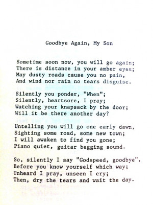... losed my grandma of i liked this poem because my uncle died last