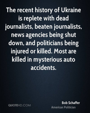 The recent history of Ukraine is replete with dead journalists beaten