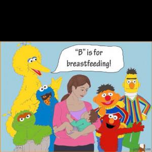 Sesame Street supports breastfeeding