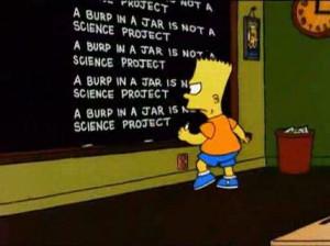 Bart Simpson Blackboard