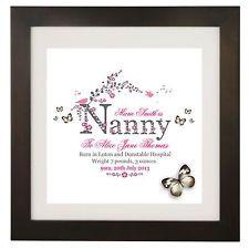Personalised Name New Baby, Grandparent, Nanny, Grandad Art Print Gift