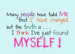 think I've just found myself…