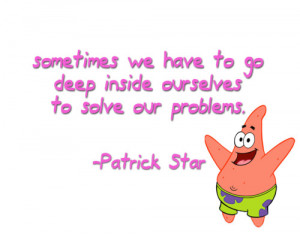 Motivational quotes by Spongebob's characters