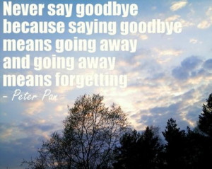 ... goodbye means going away and going away means forgetting goodbye quote