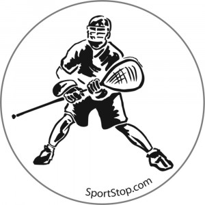 Lax Goalie Silhouette Lacrosse 3 Inch Round Sticker/Decal