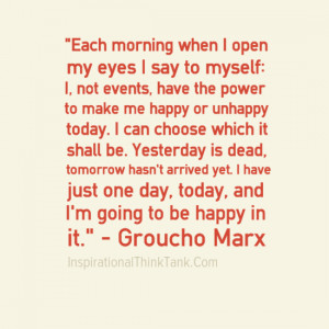 Encouraging Quotes, Positive Thinking, Groucho Marx Quotes