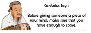 Confucius Jokes