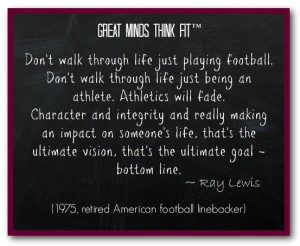 Famous Football Quote by Ray Lewis