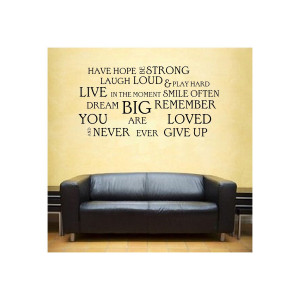 wall stickers - have hope inspirational quote vinyl sticker wall art ...