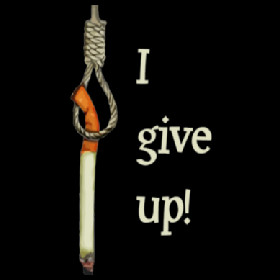 give up - quit smoking cigarettes t-shirts and hoodies.