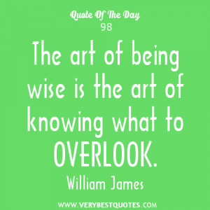 Quote Of The Day: The art of being wise
