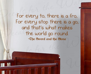 Sword in the Stone Disney Wall Decal Quote