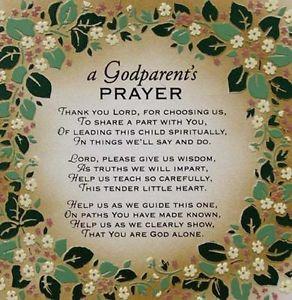 Blessing For Godparents...