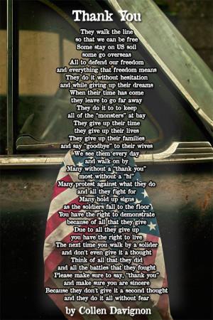 Thank You Veteran poem