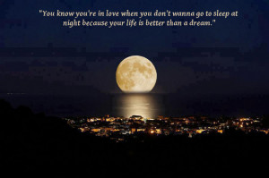 Beautiful Huge Moon [about love]