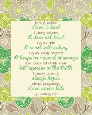 This was a bible verse that was read at our wedding. What a wonderful ...