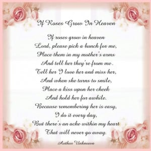 in Heaven (for Mother: Loss Of Mothers Quotes, Inspiration, Mothers ...