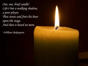 Candle Famous William Shakespeare Quotes