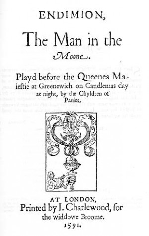Title-page of Endimion (1591)