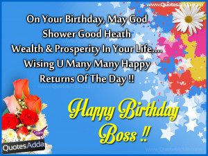 Nice Boss Birthday Messages and Quotes, Birthday Images for Boss, boss ...