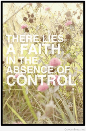 Absence of control quote