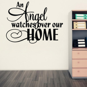 Amazon hot an angel watches over our home Vinyl Wall Art Quote