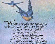 Memorial Verse, Sympathy, Funeral, Bereavement, Splendor in the Grass ...