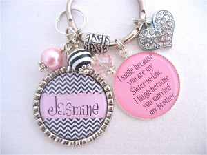 Sister In Law Poems Bff keychain sister in law