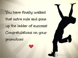 Congratulations » Promotion