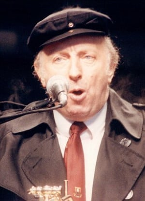 TUC rally in Hyde park, Arthur Scargill making his speech protesting ...