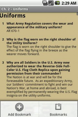 Army Study Subjects - Army Board Guidance