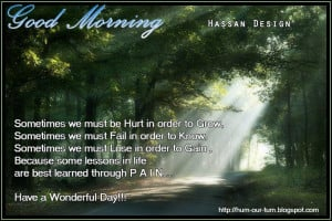 Good Morning Thursday.. Inspiring Quotes for the day