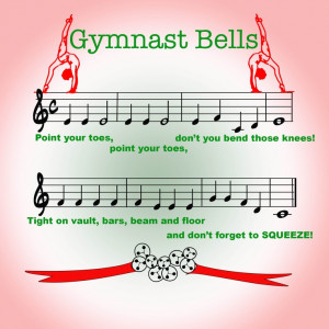 Gymnast bells - a Christmas song for our gymnasts - just change beam ...