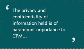 Home » About CPM » Privacy