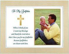 Godfather Gift from Godchild on Baptism or Christening Day - Thank You ...