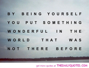 Quotes Wonderful About Being Yourself