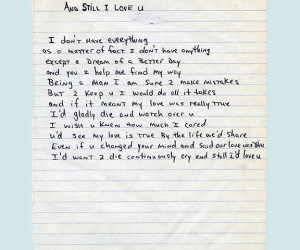 Tupac Love Poems 'an still i love you'