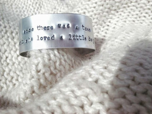 The Giving Tree quote Cuff Bracelet Shel by SheepandShamrock, $20.00
