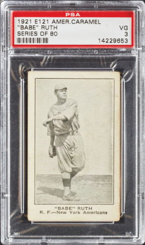 "Babe Ruth 1921 American Caramel Series of 80 ""Babe"" in Quotes (PSA ..."