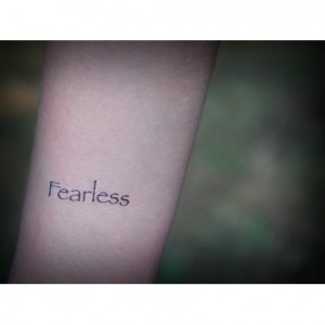 Fearless - Temporary Tattoo - Tattoo Quote - Fake Tattoo - Set of 2 ...
